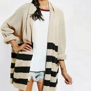BDG By Urban Outfitters Black Stripe Knit Cardigan